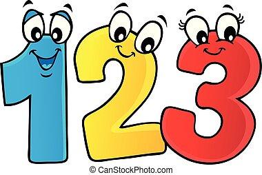 Cartoon numbers theme image 1