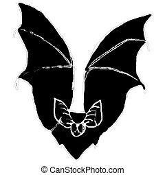 Cartoon of Bat - Bat. I am the artist