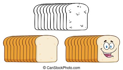 Cartoon Of Bread Loaf Collection