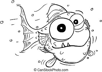 Cartoon of Crazy Cute Fish