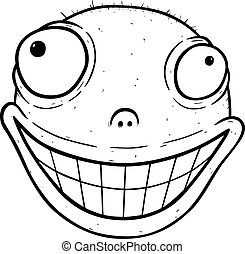 Cartoon of crazy smile
