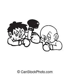 cartoon of frame