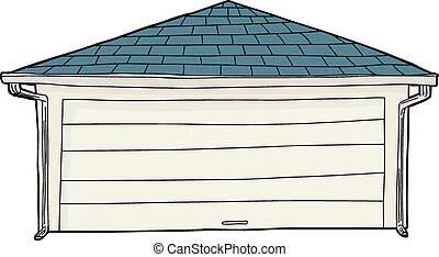 Cartoon of Garage with Spouts - Cartoon of single ...
