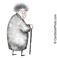 Cartoon of Surprised Old Lady - Cartoon of an old lady...
