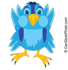Cartoon of the bird sparrow