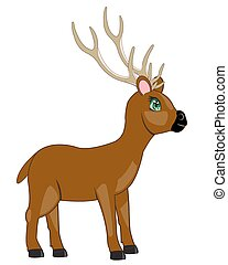 cartoon of the deer.eps