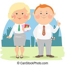 Cartoon office people - Coworkers