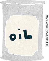 cartoon oil barrel