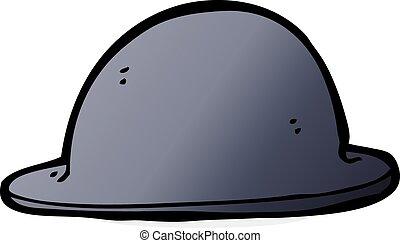cartoon old bowler hat