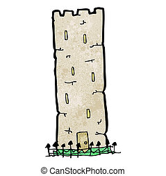 cartoon old castle tower