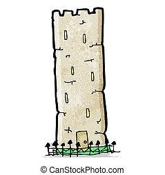 cartoon old castle tower