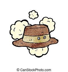 cartoon old hat