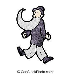 cartoon old man dancing