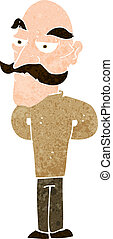 cartoon old man with mustache