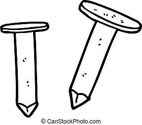 cartoon old nails