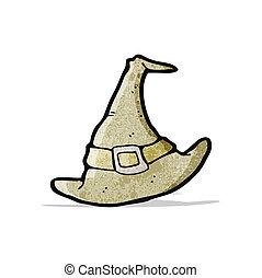 cartoon old pilgrim hat