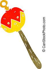 cartoon old rattle