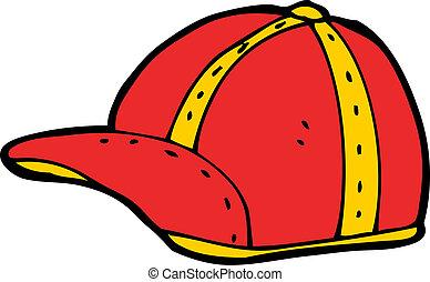 cartoon old school cap