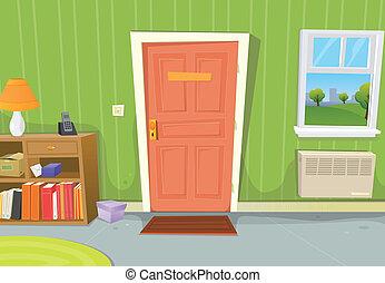 cartoon-old-school-teacher - Illustration of a cartoon home ...