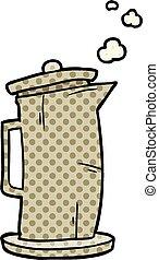 cartoon old style kettle