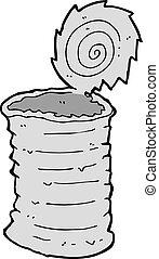 cartoon old tin can  - cartoon old tin can