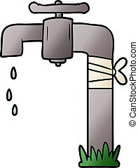 cartoon old water tap