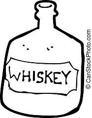 cartoon old whiskey bottle