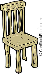 cartoon old wooden chair