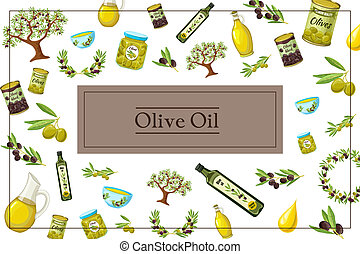 Cartoon Olive Colorful Concept