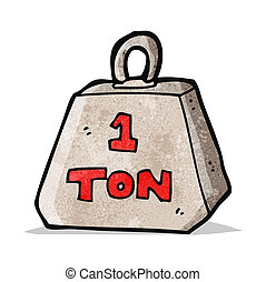 cartoon one ton weight