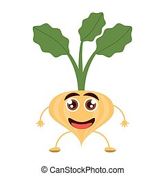 cartoon onion happy vegetable