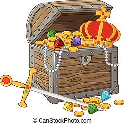 Cartoon Open Treasure Chest
