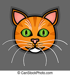 Cartoon orange cat