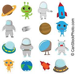 cartoon Outer space icon  - cartoon Outer space icon