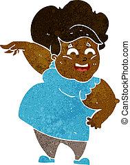 cartoon oveweight woman