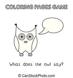 Cartoon Owl Coloring Book