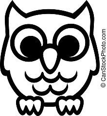 Cartoon Owl contours