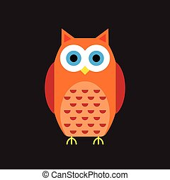 Cartoon owl icon.