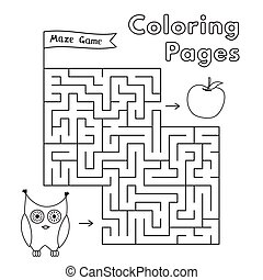 Cartoon Owl Maze Game