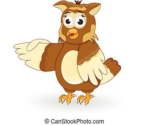 cartoon owl pointing