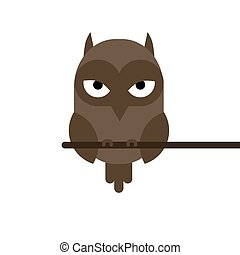 cartoon owl sitting on a branch