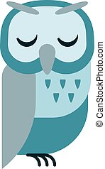 Cartoon owl vector - Cute vector collection of bright...
