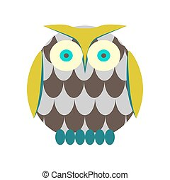 Cartoon owl vector illustration.