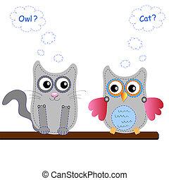Cartoon Owl (vector version)