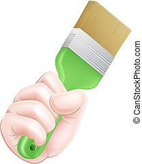 Cartoon Paintbrush Hand