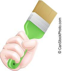 Cartoon Paintbrush Hand