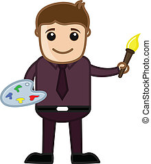 Cartoon Painter Character