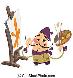 Cartoon painter