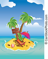 Cartoon Palm Island