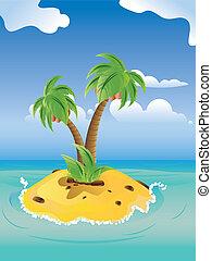 Cartoon Palm Island